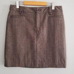 Eddie Bauer wool blend skirt